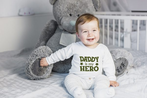 Daddy is my hero wit