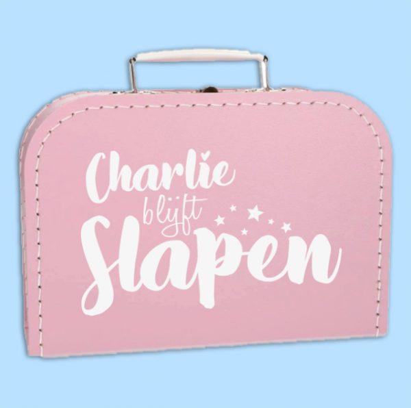 Kinderkoffertje Blijft slapen ster met naam