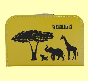 Koffer Africa met naam