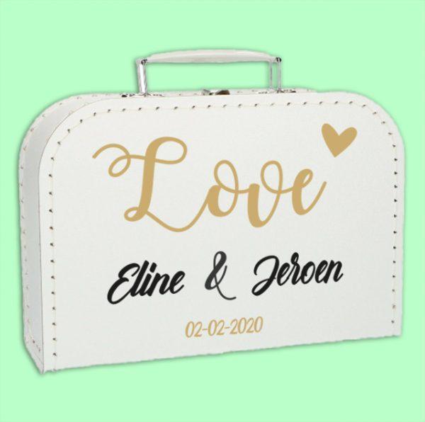 Koffer Huwelijk Love