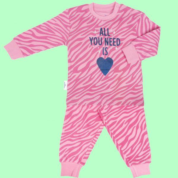 Pyjama roze met glitter