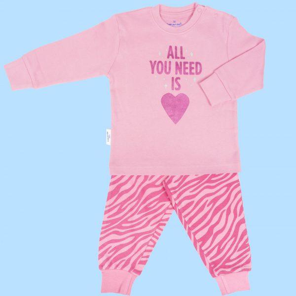 Pyjama roze All you need is