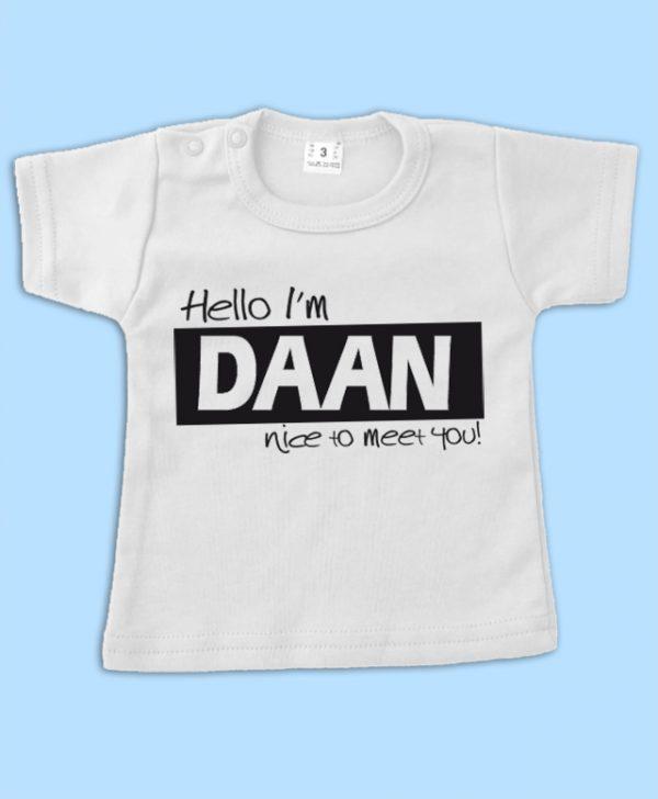 Shirt Hello I am met naam