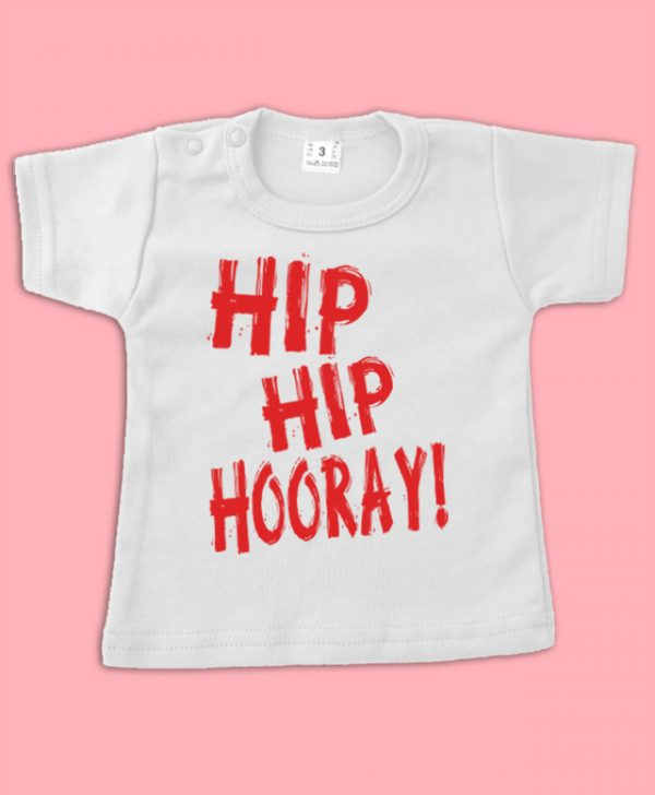Verjaardagsshirt Hip Hip Hooray