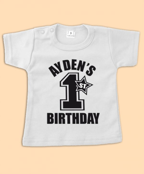 Birthday shirt 1 jaar
