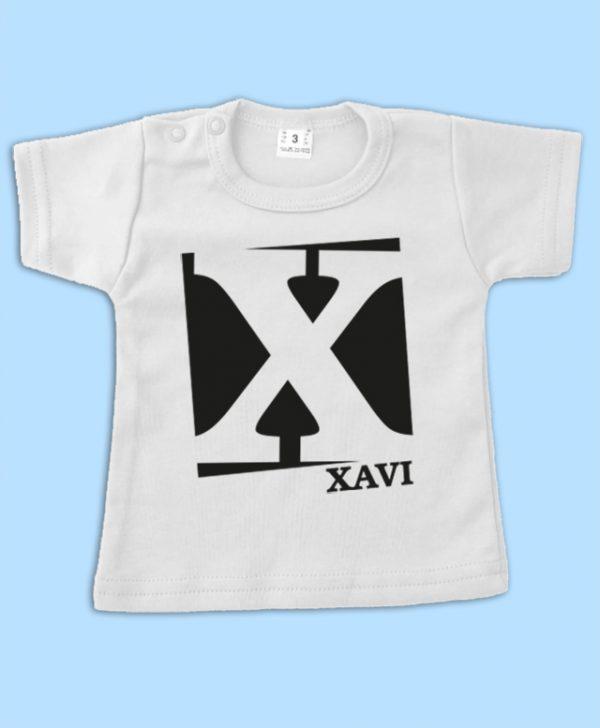 Babyshirt met naam Blok