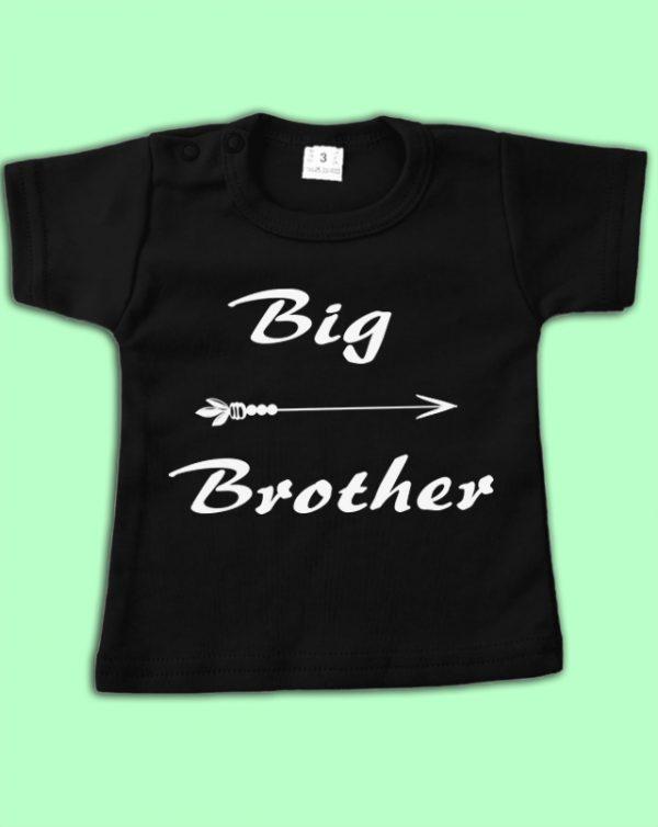 T-shirt Zwart Big brother