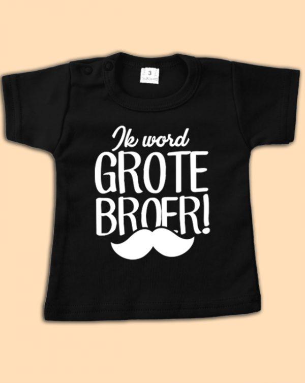 Shirt Ik word grote broer (zwart)