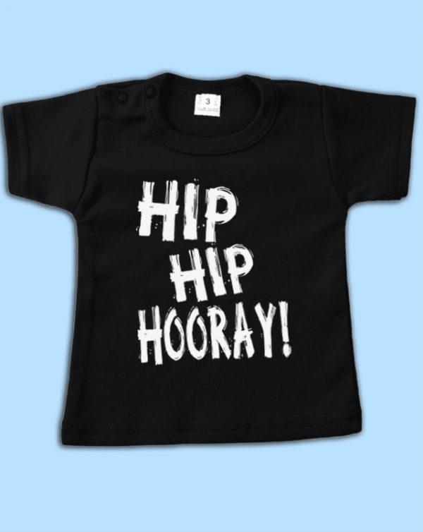 Shirt zwart Hip Hip Hooray