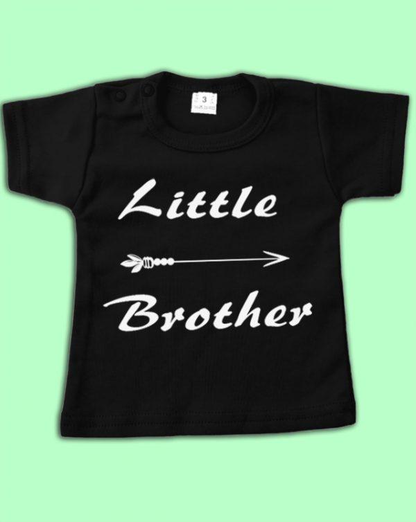 "Babyshirt met tekst ""Little Brother"""