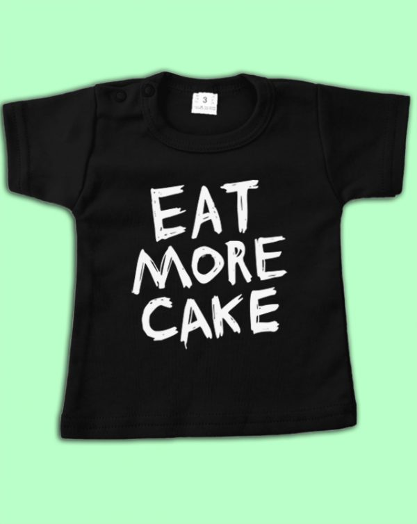 Shirt zwart Eat More Cake
