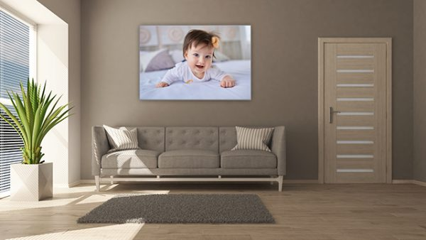 Geboortedoek afbeelding in frame